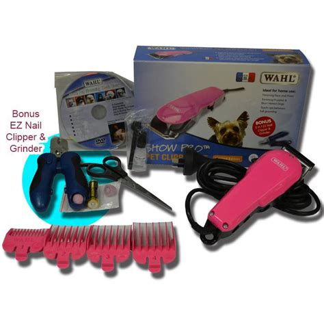 Pet Clipper Wahl Showpro Ori wahl show pro pet clipper kit pink bonus pack