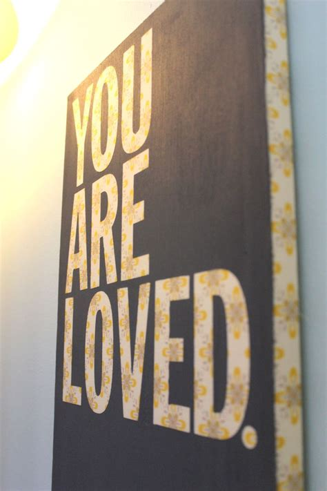 temporary peel off wall paint you are loved nursery art diy painting just wrap fabric