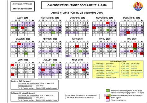 Calendrier Vacances Scolaires 2019 Calendrier Scolaire 2018 2019