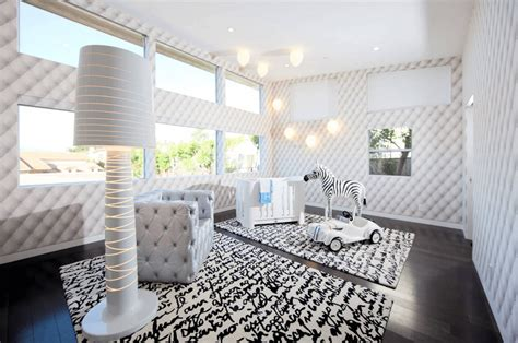 baby nursery modern eclectic white nursery features wooden