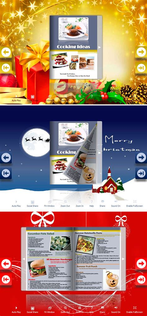 build  magic  unique page flipping brochure  send  merry christmas wishes