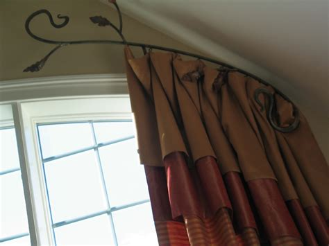 arch window rod for curtain window treatments