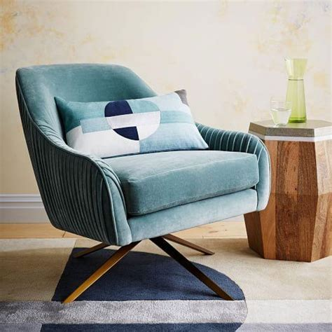velvet swivel desk chair roar and rabbit blue lichen swivel chair