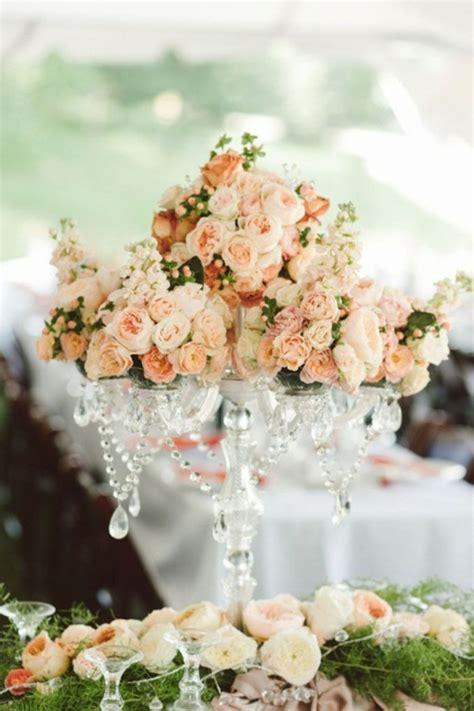 Blumen Hochzeitsdeko by Meine Hochzeitsdeko In Cremig Und Pfirsichfarben
