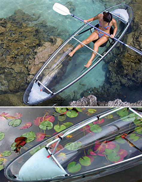 clear kayak clear sailing cleverly transparent canoes kayaks