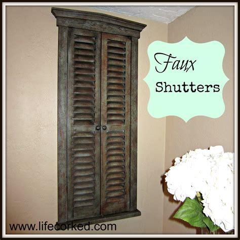 Faux Shutters Faux Shutters Corked