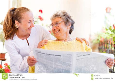 elderly home care stock photo image 34213230