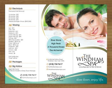 design flyer spa upmarket playful business brochure design for the