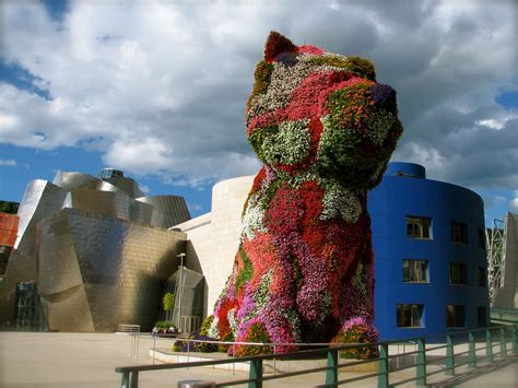 guggenheim dogs guggenheim museum bilbao spain must see places