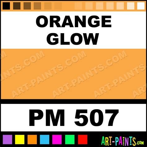 orange glow sparkling and glow fabric textile paints pm 507 orange glow paint orange glow
