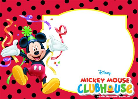 get free printable mickey mouse clubhouse baby shower invitation