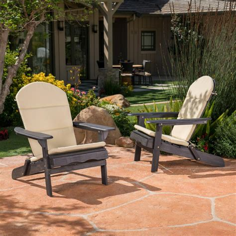noble house malibu khaki outdoor adirondack chair cushion