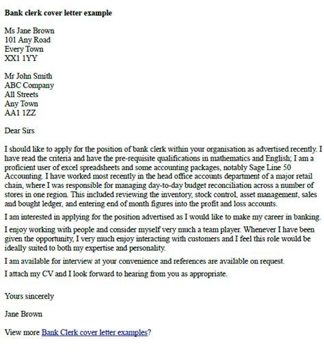 Sample Job Application Cover Letter For Bank   Employment