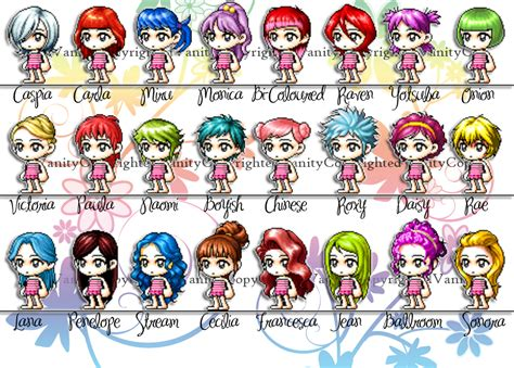 maplestory hairstyles by town vip hair list maplestory 2013 vip hair list maplestory