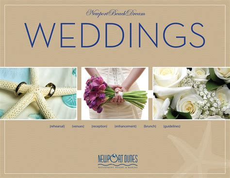 Wedding Photography Brochure Design by Cover Of Wedding Brochure For Newport Dunes Layout