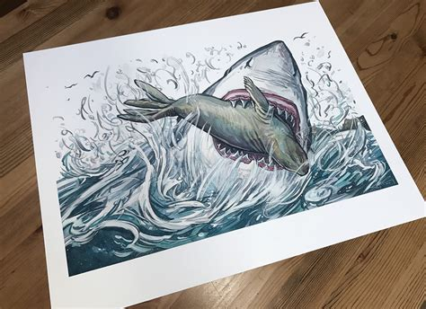Sharks Giveaway - katherine roy studio 187 shark week giveaway neighborhood sharks giclee print