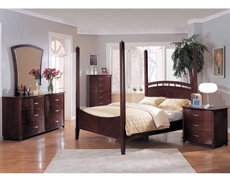 poster bedroom set angela poster bedroom set cherry finish
