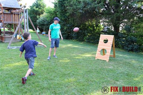 Toss Takes Out On Your Superiors by Diy Football Toss Fixthisbuildthat