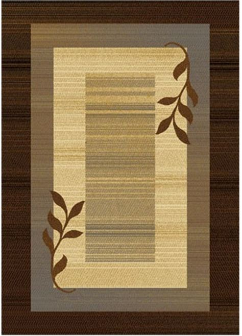 modern brown rug transitional brown blue 4x6 area rug modern leaf carpet actual 3 6 quot x 5 2 quot ebay