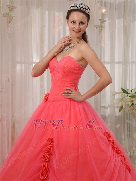 Melon Dress water melon quinceanera dress with handmade flower