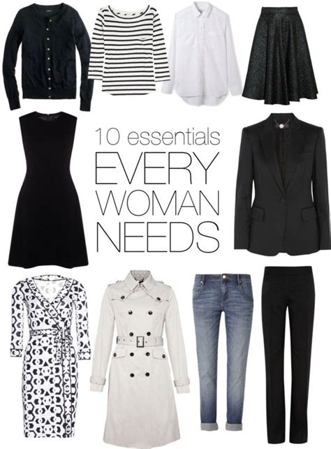 Essential Closet Pieces by What Every Needs Wardrobe 101 The 10 Essential