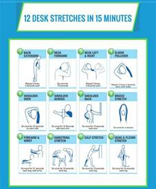 Desk Inbox Infographic 12 Desk Stretches To Reduce Fatigue And Avoid