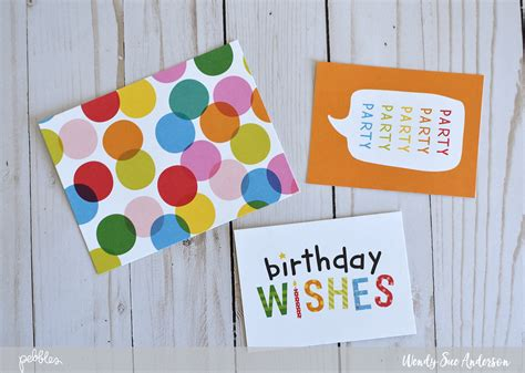quick printable birthday cards quick and easy happy hooray card set pebbles inc
