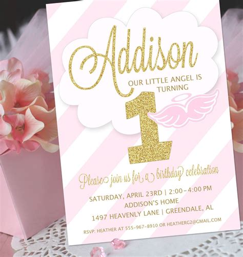 Joint 1st Birthday And Christening Invitations Baptism Invitations Pinterest Baptism 1st Birthday And Christening Invitation Templates