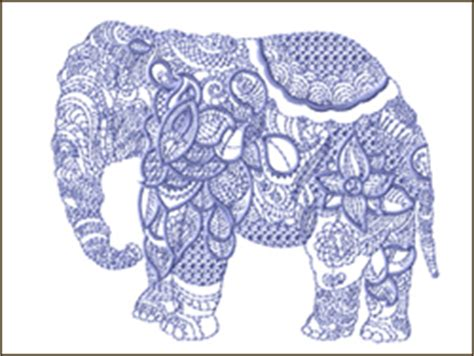 Design Custom Elephant 007 ethnic animals