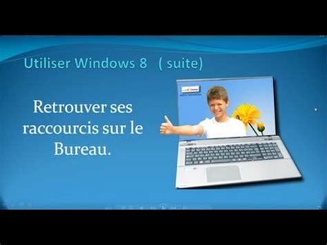 retrouver ses raccourcis sur le bureau de windows 8