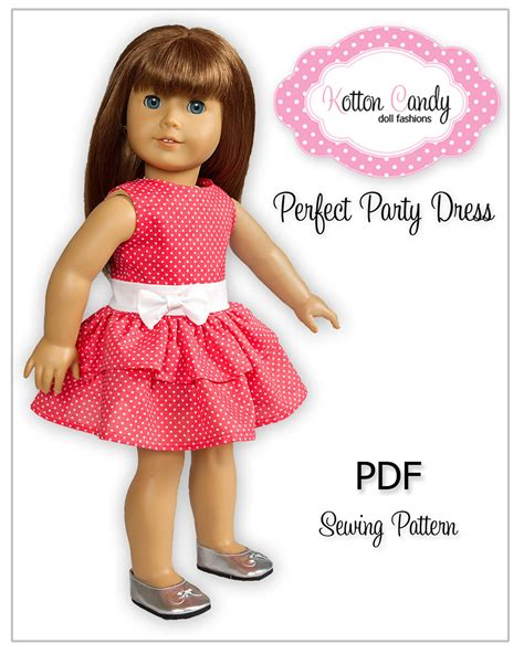 pattern dress girl free download pdf sewing pattern for 18 inch american girl doll clothes