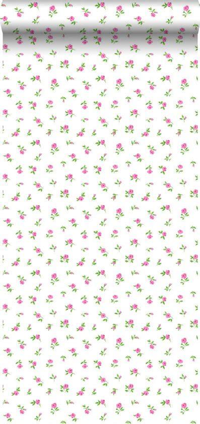 behang roosjes bol behang kleine roosjes roze 115704 estahome nl