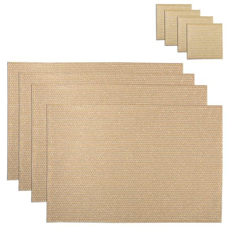 Dining Table Placemats Set Of 4 Coasters Matching Placemats Dining Protective Dinner Table Tableware Ebay