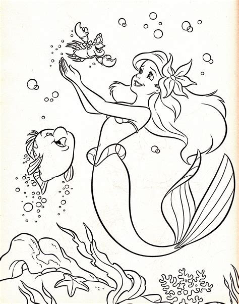 little mermaid coloring page pdf the little mermaid coloring pages flounder
