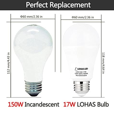 150 watt led light bulb lohas a19 led lights 17watt 150watt equivalent led bulb