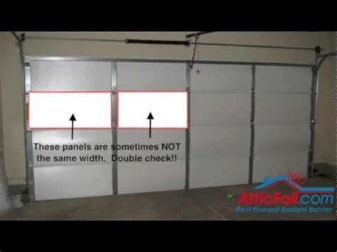Garage Door Radiant Barrier Garage Door Insulation Diy Radiant Barrier How To Save
