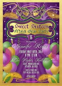 mardi gras and masquerade birthday invitations kustom kreations