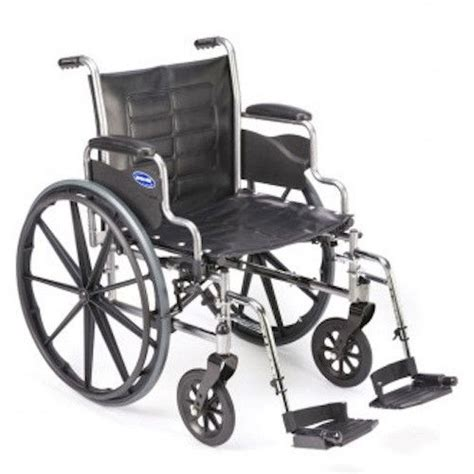 folding invacare tracer 20 quot wide wheelchair wheel chair