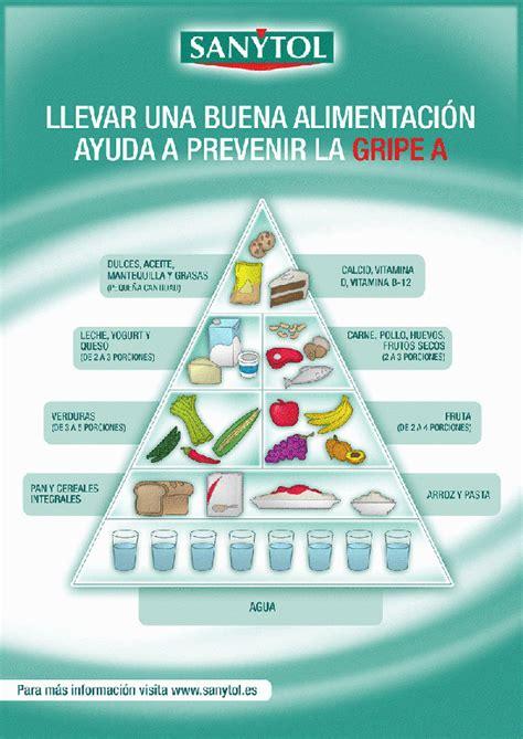 una alimentacion   prevenir la gripe