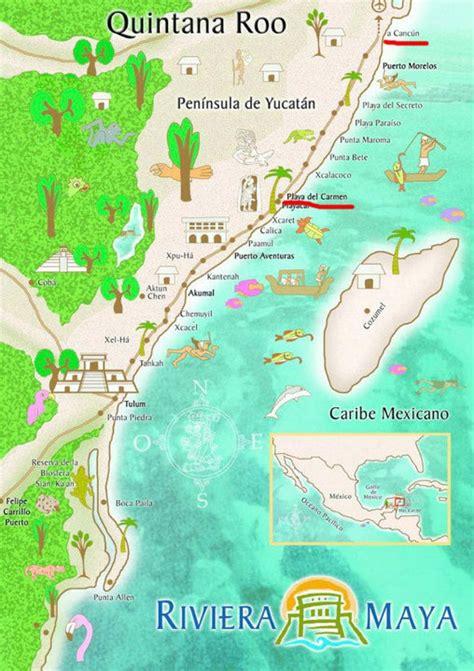 Hängematte Maße by Mapa De La Riviera M 233 Xico Destinos