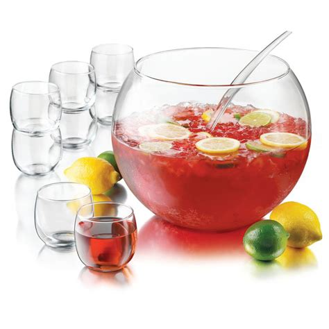 barware com au libbey 55466 selene punch bowl set w 1 bowl 8 cups ladle