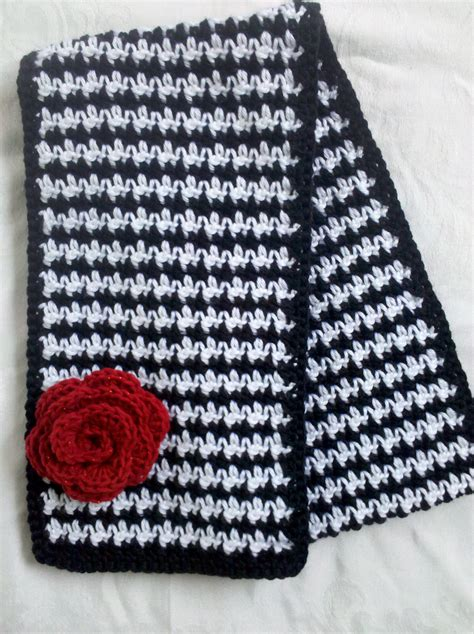 houndstooth knit pattern easy image gallery houndstooth crochet scarf pattern