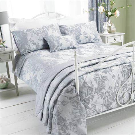 grey floral bedding paoletti balmoral floral damask jacquard duvet cover set