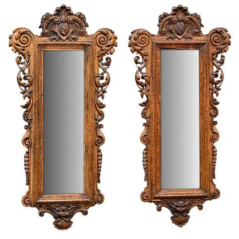 Valentino Mirror Quality 1 19th century antique italian pair of carved mirrors