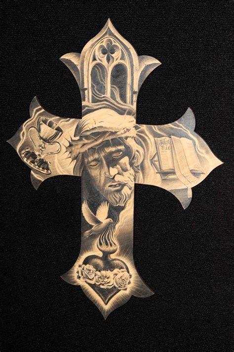 cross tattoo art gilbert silas a artist from oxnard