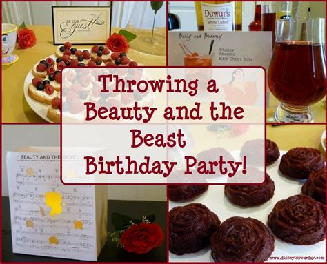 beauty and the beast dinner party april golightly throwing a beauty and the beast birthday party disney in