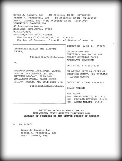 Supreme Court Brief Briefformat Arbitration New Jersey Civil Justice Institute