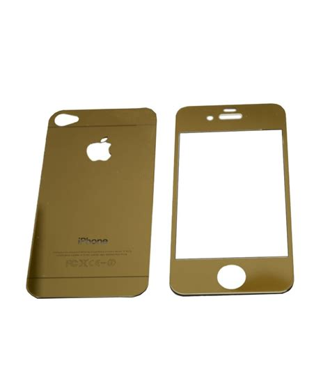 Tempered Glass Clear Fashion Iphone 5 fashion on board set of gold tempered glass front and back and gold metal bumper for apple