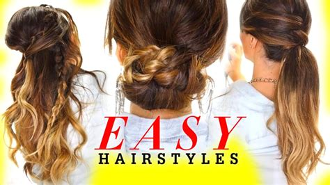 cute hairstyles greasy hair 4 easy hairstyles with voloom everyday hairstyles youtube