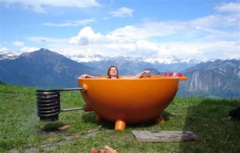 Do Bathroom Heat Ls Use A Lot Of Electricity Self Heating Outdoors Tub For Bathing Au Naturel In Nature